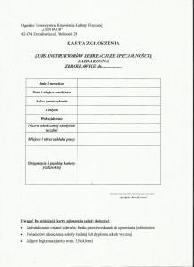 TKKF karta zgłoszenia